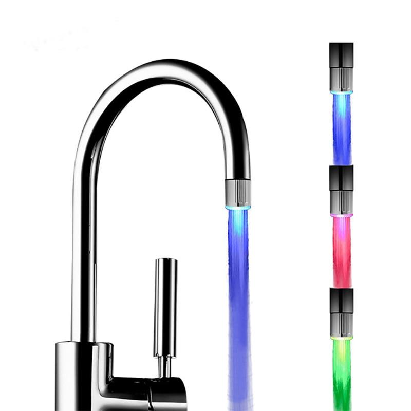 VEHHE светодиодный аэратор для водопроводного крана с контролем температуры, 3 цвета, подсветка водопада, свечение, душевой поток, кран для кухни, аксессуары для ванной комнаты