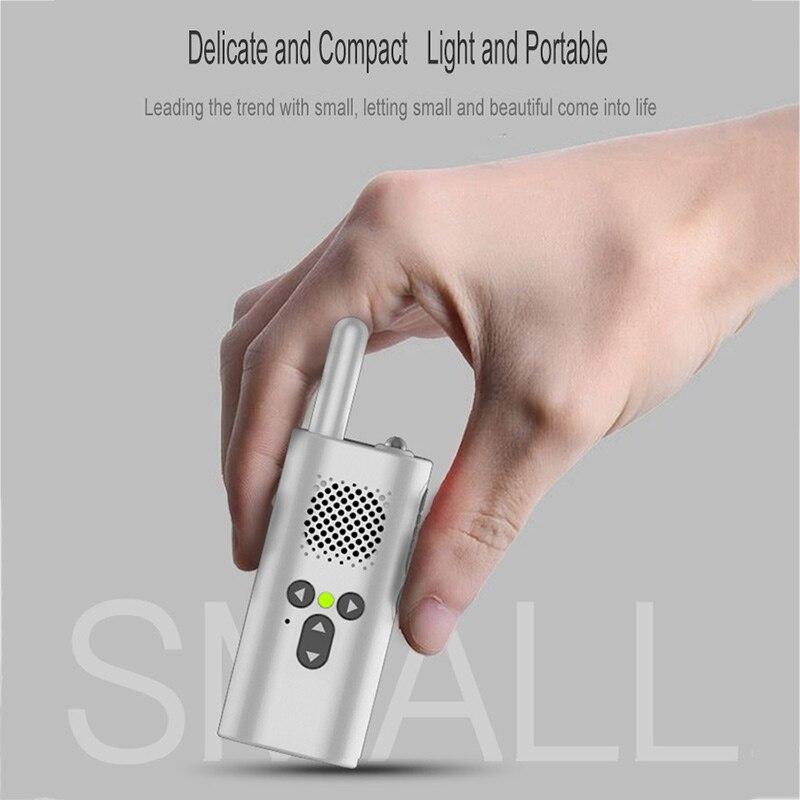 2 uds Xiao Mi Walkie-Talkie Mini de dos vías Walkie Talkie profesional portátil Radio UHF 400-480MHz Radio transceptor intercomunicador