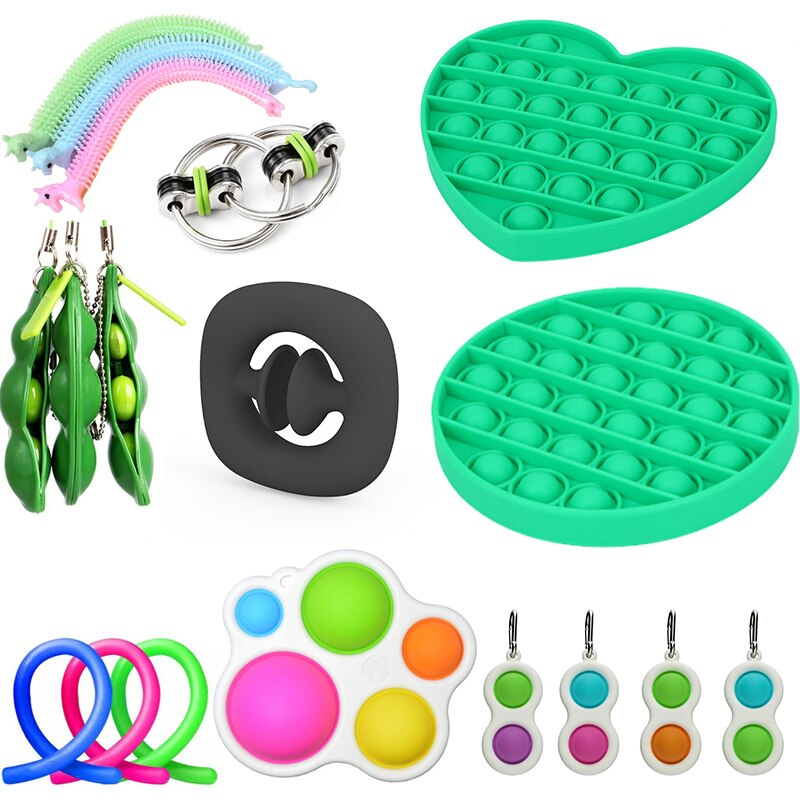 Figet Fidget Toys Anti Stress Pack Stretchy Strings Set Adults Children Squishy Simple Dimple Antistress Relief NeedToys enlarge