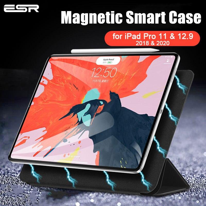 ESR Magnetic Smart Case for iPad Pro 11 2020 & 2018 2nd Gen Cover Trifold Stand Magnet Case Cover for iPad Pro 12.9 2020 4TH Gen