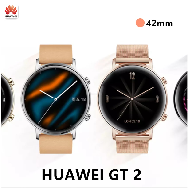 Original 95% New Huawei Watch GT2 GPS 14 Days Working Phone Smart Call Blood Oxygen Heart Rate Tracker For Smart Android IOS