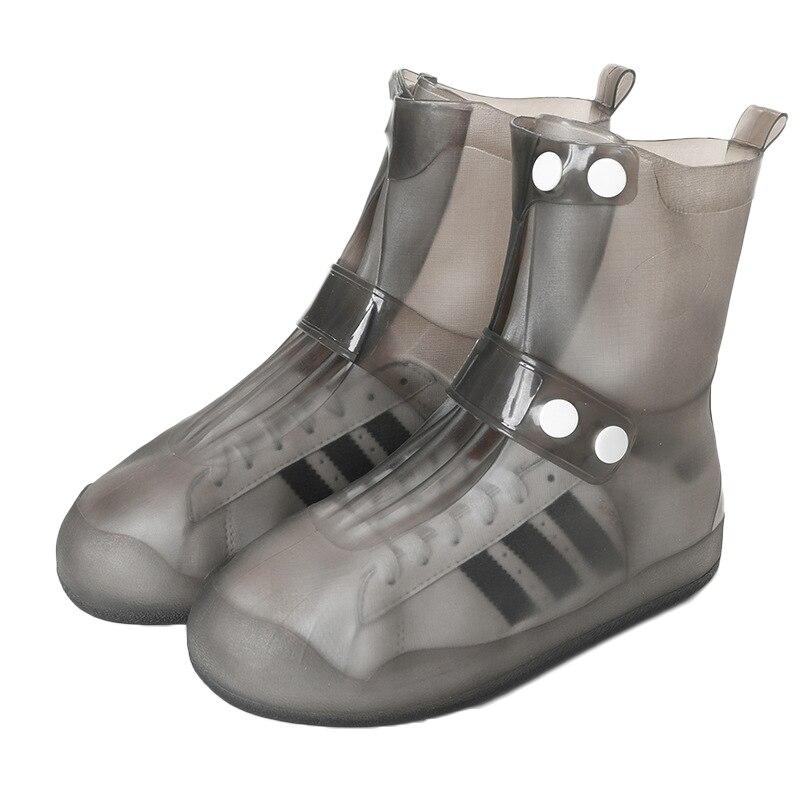 Утолщенные Водонепроницаемые силиконовые чехлы для обуви, женские резиновые сапоги, мужские чехлы, уличная Нескользящая многоразовая обув...