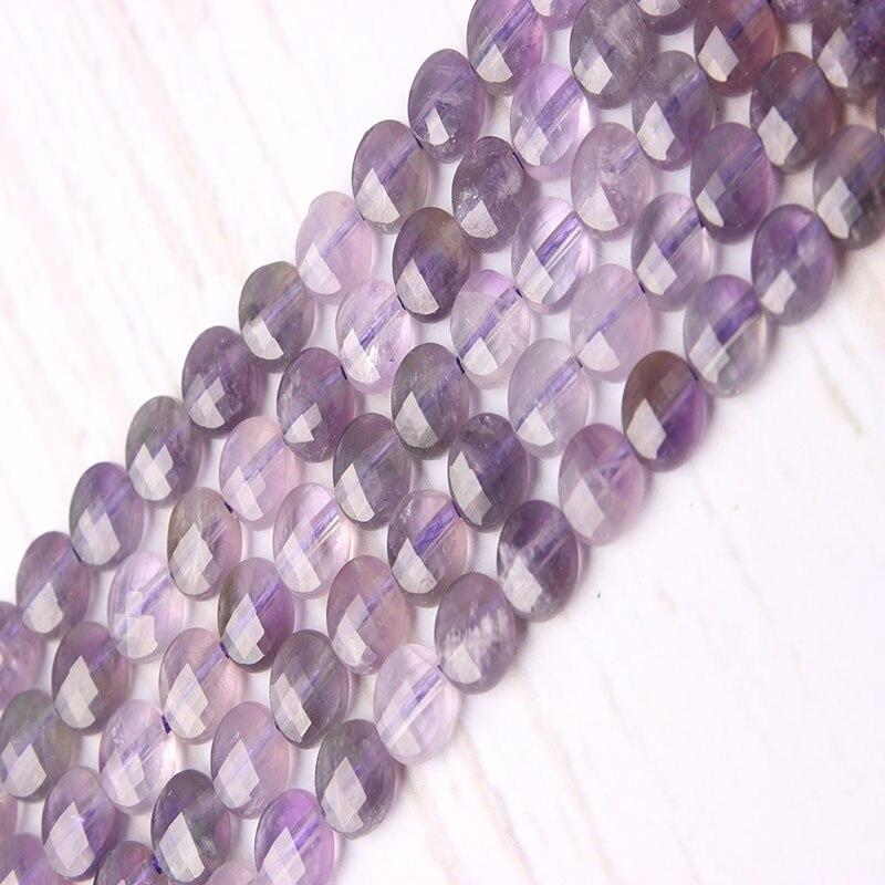 Nuevo Producto amatista 6x6mm cuentas naturales cuentas sueltas cuenta espaciadora cuentas separadoras collar pendientes DIY