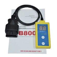 Новейший сканер B800 SRS и сбрасыватель инструментов для BMW Fit E36 E46 E34 E38 E39 Z3 Z4 X5 B800 сканирование между 1994 и 2003B 800