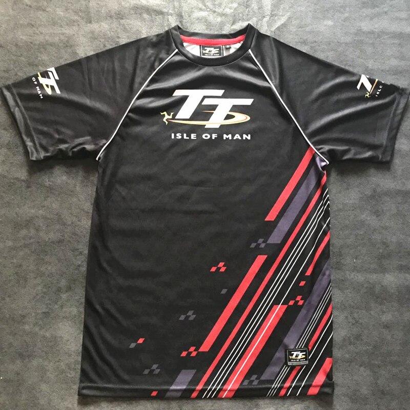 ¡Verano 2019! Camiseta de carreras tt de Isle of Man, Camiseta corta transpirable de motociclismo para exteriores de secado rápido