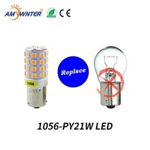 AMYWNTER ampoule clignotant 12V 1157 BAY15D P21/5W 1156 BA15S P21W Canbus 1056 PY21W BAU15S   Rouge/jaune/blanc, clignotant