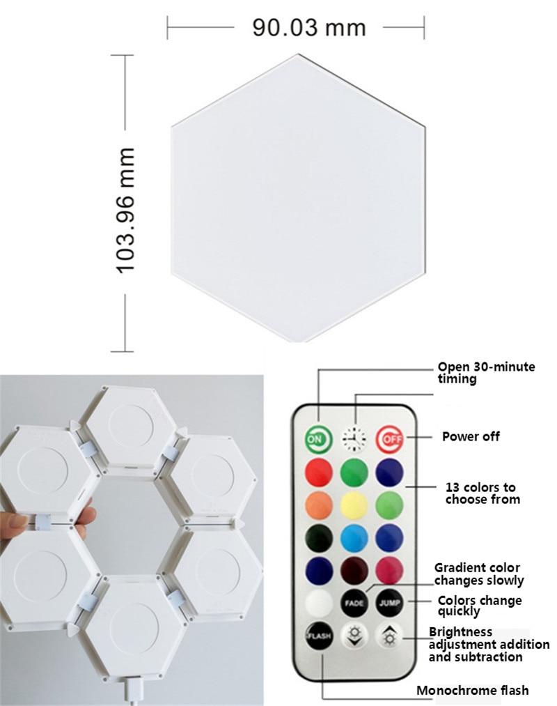 RGB Quantum Lamp Modern Touch Light Touch Sensitive Lighting LED Night Lights  Modular LED Night Lamps Magnetic DIY Indoor Decor enlarge