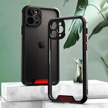 กันกระแทกเกราะกันชนสำหรับ iPhone 11 12 SE 2 11 13 Pro Max XR XS Max X 7 8 Plus 13 Pro กล้องป้องกันฝาครอบ