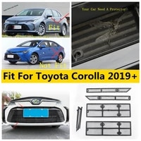front head grille insert net insect screening mesh cover trim for toyota corolla e210 2019 2020 2021 protection kit accessories