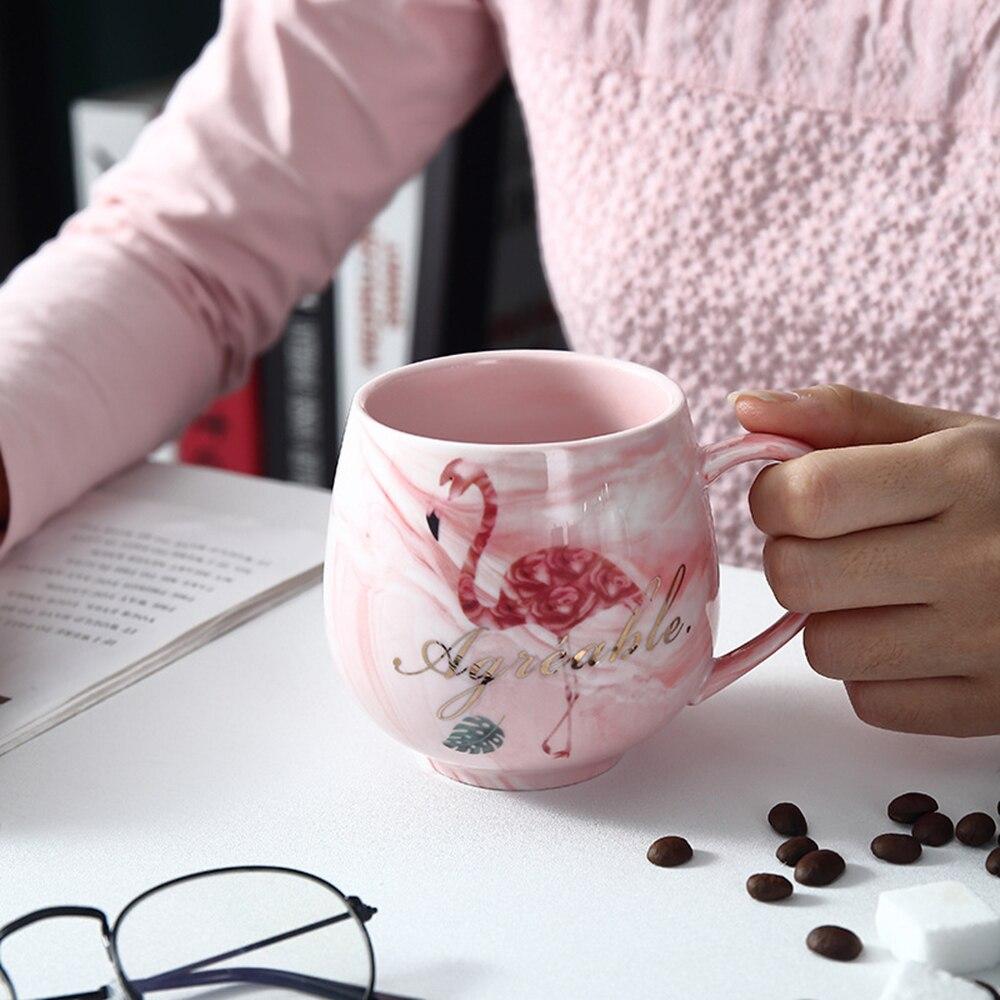 Taza de café de cerámica llameante, taza de viaje, taza de leche para desayuno, tazas creativas para parejas, regalo de cumpleaños y boda de San Valentín de 250ml