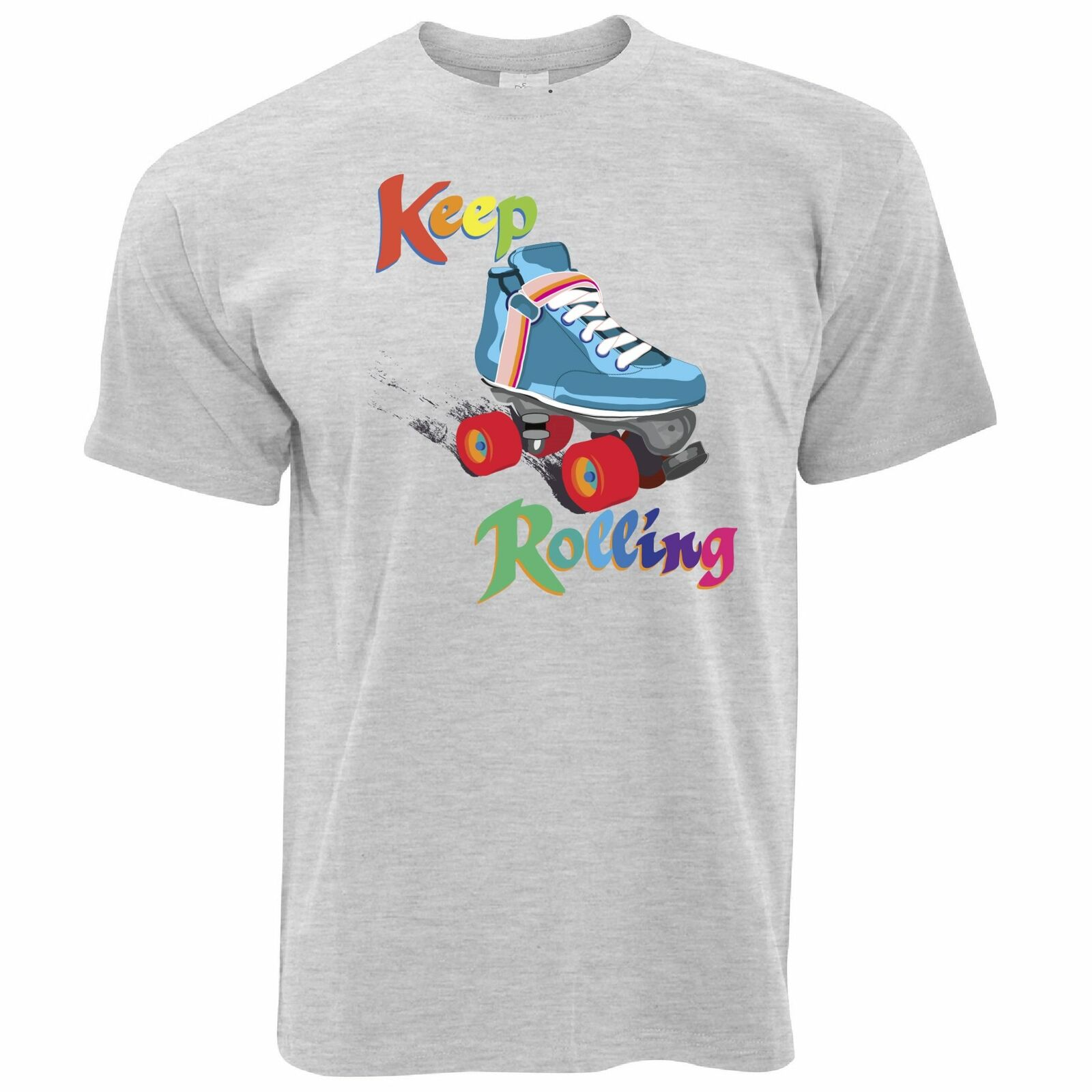 Camiseta de patinaje Vintage SIGUE RODANDO Pun Joke Derby niñas patines