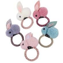 Bandeau en caoutchouc en peluche de lapin 3D, mignon, Style animal, oreilles en feutre pour filles, tendance
