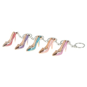 High Heel Shoe Keychain Fashion Purse Car Key Chain Bag Decorative Alloy Keyring
