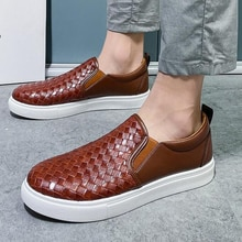 New Arrival Spring Summer Men Shoes PU Leather Youth Low Top Shoe Comfortable Casual Shoes Comfort F