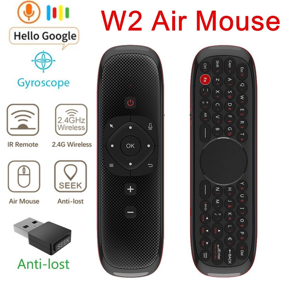 W2 Fly Air Mouse голосовой пульт дистанционного управления микрофон 2,4G Беспроводная мини клавиатура гироскоп зондирования для Smart Android Tv Box/PC PK W1