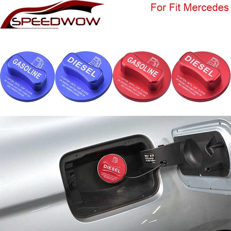 SPEEDWOW Gasoline Diesel Fuel Tank Cap Cover Fuel Cap Stickers For Mercede Benz BCES GLK DE GLA-class W204 W205 X204 W212 W213