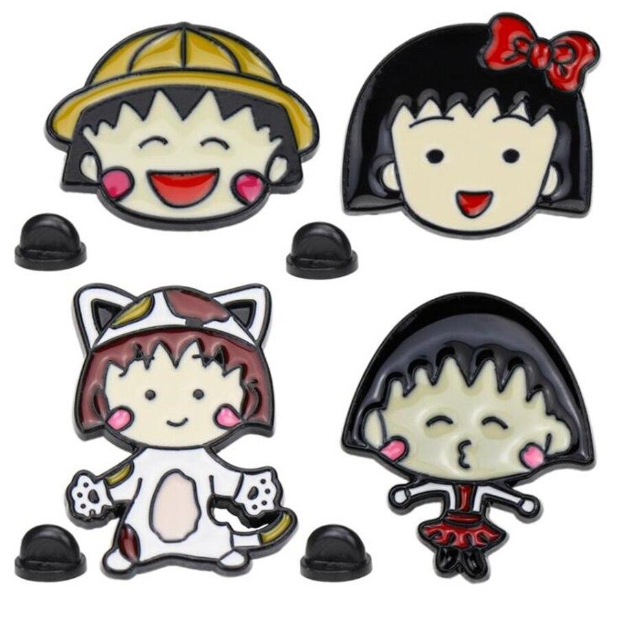Broches de solapa de Avatar de dibujos animados para mujeres Kpop broche con insignia esmaltada para mochila Metal Anime broches de mujer insignias Accesorios