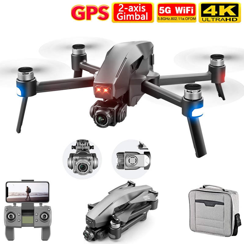 2021 NEW M1 Pro 2 drone 4K 6K HD Camera Professional GPS 5G WIFI 2-Axis Gimbal System Supports TF Card RC Dron