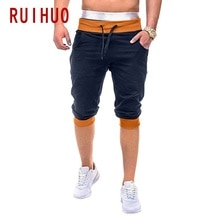 RUIHUO 2020 New Calf-Length Harem Pants Men Trousers Joggers Casual Pants Men Sweatpants Hip Hop Streetwear Male Plus Size M-2XL