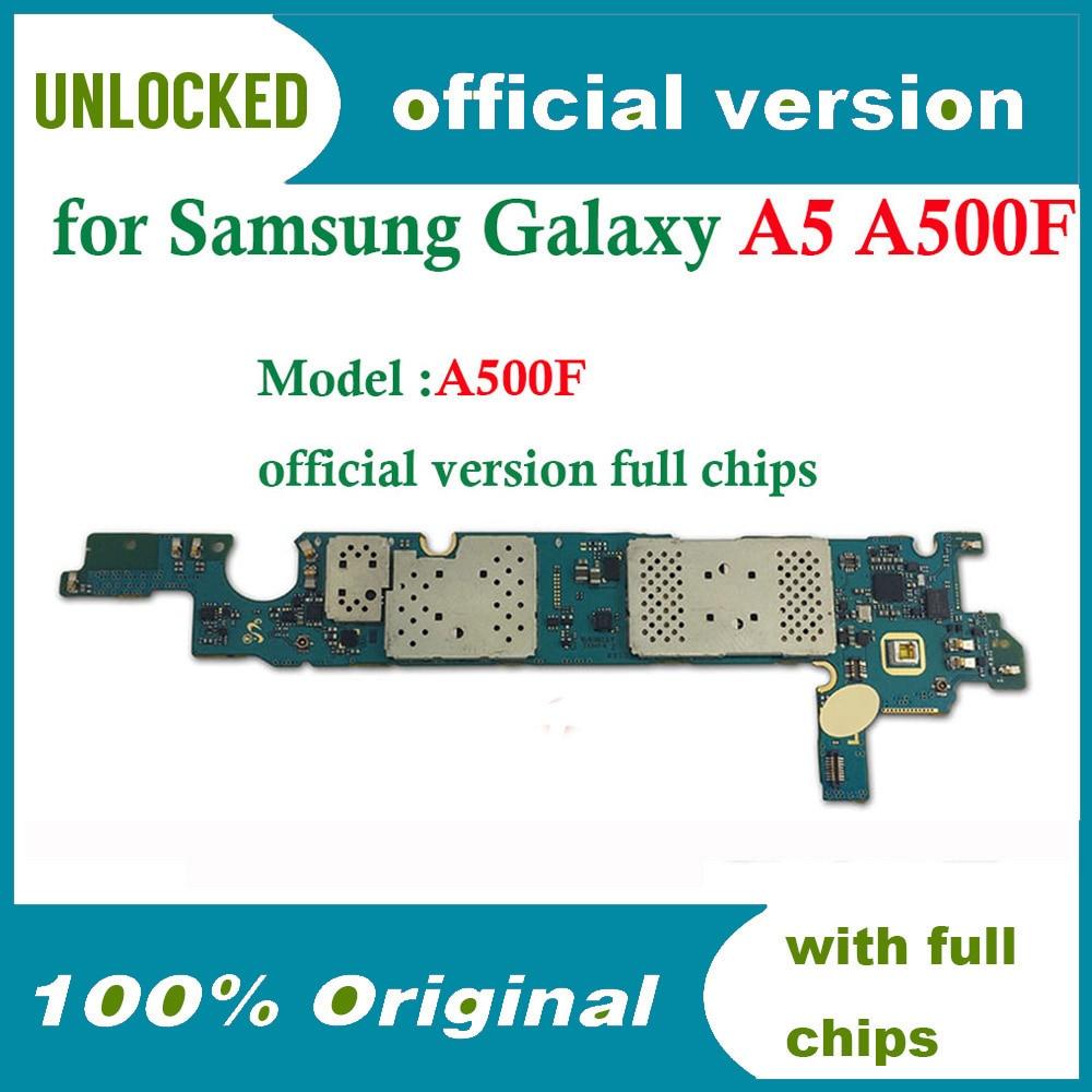 Placa base 100% Original desbloqueada para Samaung A500F buen funcionamiento 16gb para Samsung A5 A500F placa base con sistema Android