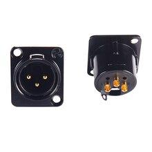 Высокое качество 2 шт. NEUTRIK XLR Сделано в Китае мужские и женские шасси Панель гнездо для усилитель CD