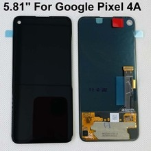 Оригинальный OLED экран 5,81 дюйма для Google Pixel 4A 4G, ЖК дисплей + сенсорная панель, дигитайзер, экран для 6,2 дюймов Google Pixel 4A, 5G