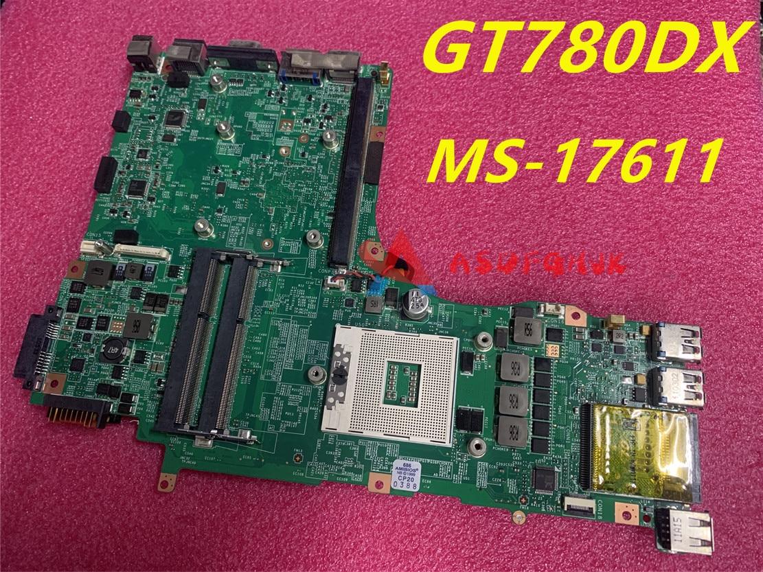 MS-17611 VER 1.0 1.1 ل msi MS-1761 GT780 اللوحة الأم للكمبيوتر المحمول 100% اختبار سريع السفينة
