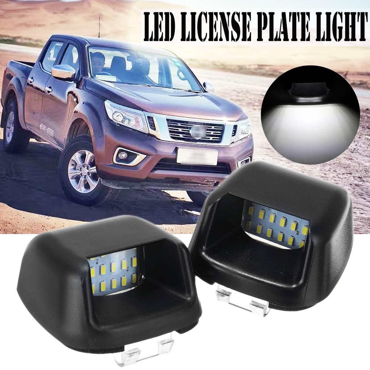 Çift 16 LED lisans numarası plaka işıklar arka tampon ışıkları lamba Nissan Navara için D40 Frontier için Suzuki Equator 2004-2018