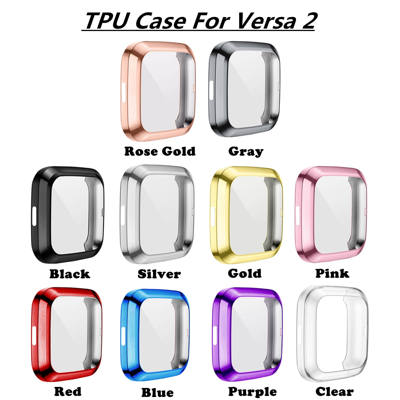 Мягкий чехол из ТПУ Для Fitbit Versa1 Versa 2 versa lite водонепроницаемый чехол для часов Защита экрана для Fitbit Versa