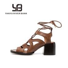 Summer Black Platform Sandals Chunky Block Heels Punk Shoes Gothic Ladys Sandalias Rome Womens Gladi