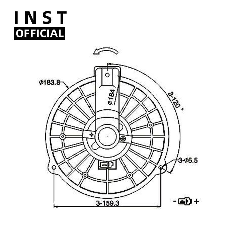 Ventilador de aire acondicionado AC A/C/Motor de ventilador para ISUZU nueva D-MAX 2012 12V