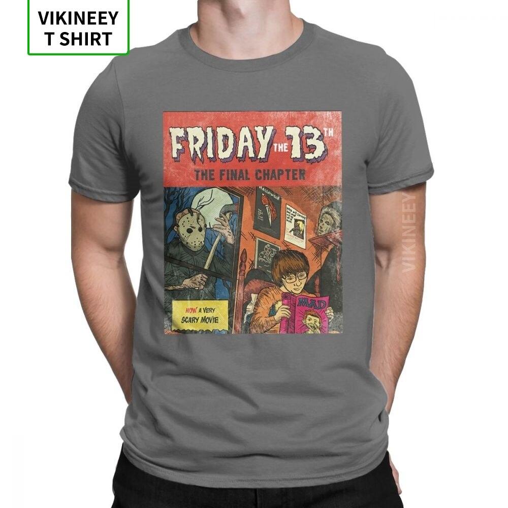 Viernes 13, Jason Voorhees, camiseta para hombre, película de Horror, Camiseta de algodón de miedo para Halloween, camiseta de manga corta, regalo, camiseta Idea