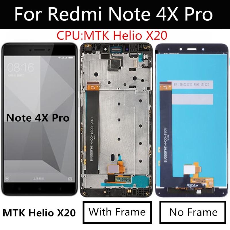 Para Xiaomi Redmi Note 4X PRO MTK helios 4GB pantalla LCD + pantalla táctil con marco digitalizador montaje para Redmi Note4X LCD