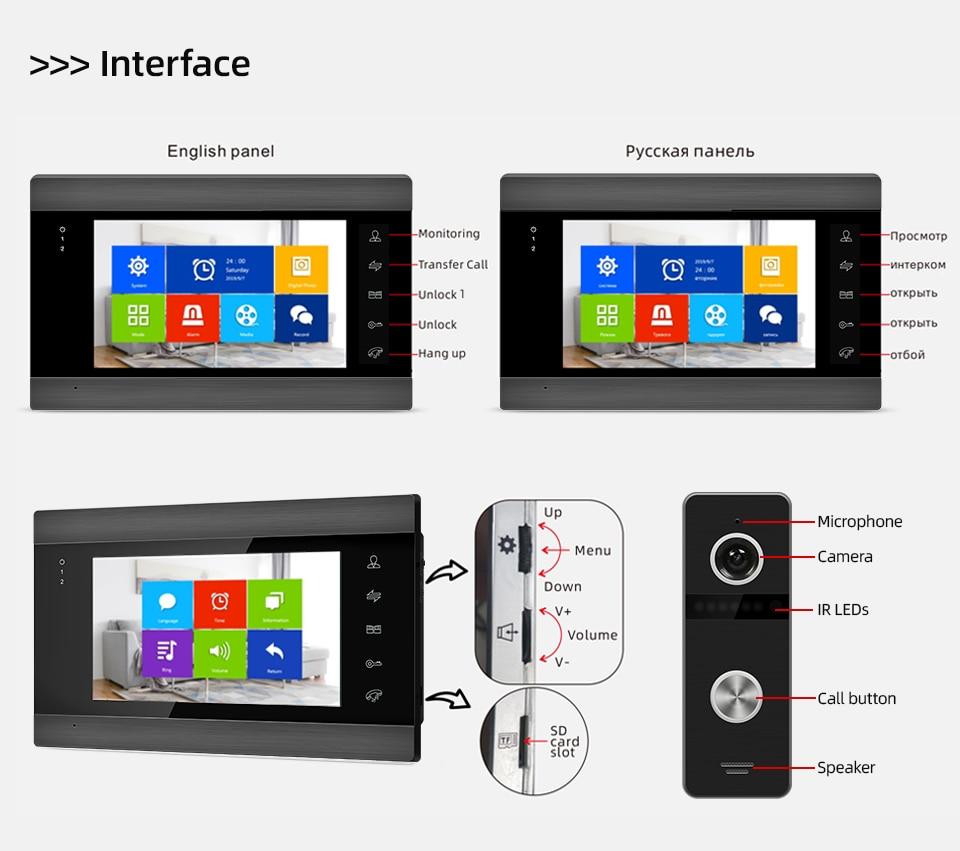 Jeatone Wireless Wifi Video Intercom for Video Door Phone System Support Video Doorbell Camera Apartment Video Intercom System enlarge