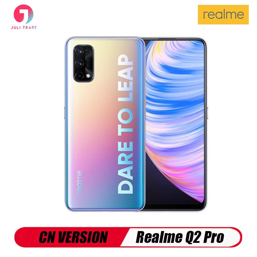 Версии CN Realme Q2 Pro 5G смартфон 8 Гб Оперативная память 256 ГБ активно-матричные осид, быстрая зарядка 65 Вт MediaTek Dimensity 800U Android