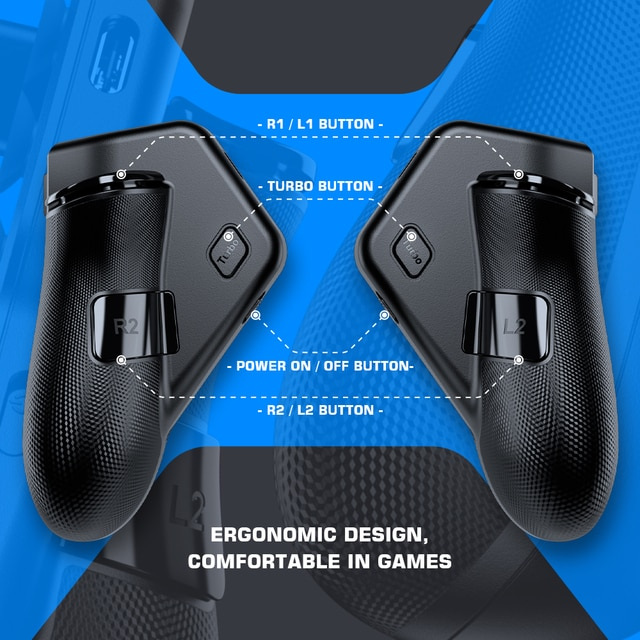 GameSir F7 Claw Tablet Game Controller, Plug and Play Gamepad for iPad / Android Tablets Zero Latency for PUBG Call of Duty 8