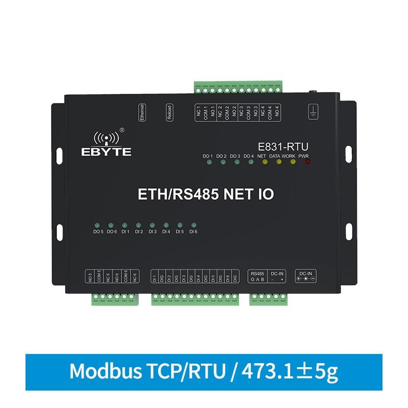 RS485 إيثرنت الرقمية 12 قناة شبكة كمية التتابع IO تحكم Modbus TCP RTU جهاز الإرسال والاستقبال اللاسلكي مودم