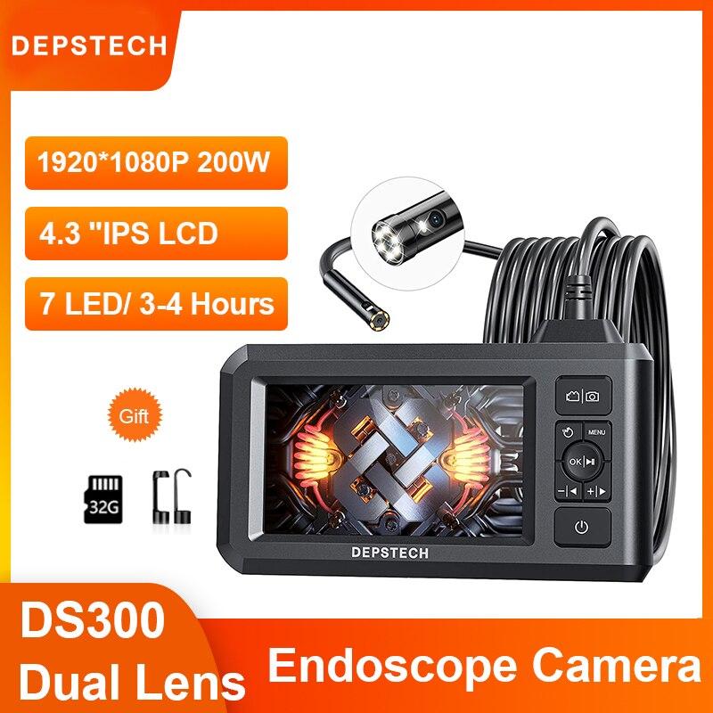 Dual Lens 1080P Endoscope Camera with 4.3