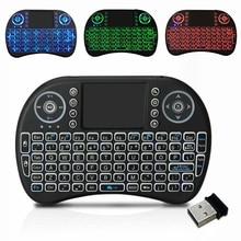 HTRC teclado inalámbrico i8 2,4 GHz con Touchpad de Control remoto para Android 9,0 caja de TV HK1 max h96 max x88 Pro Fly Air Mouse