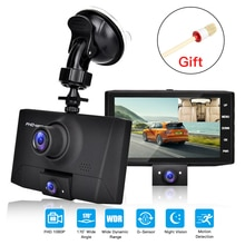 170 grad Betrachtung Winkel Dash Cam Auto DVR Kamera Video Recorder Dual Objektiv Kanzler 3 in 1 HD 1080P dashcam 4 Zoll 2019 Neue