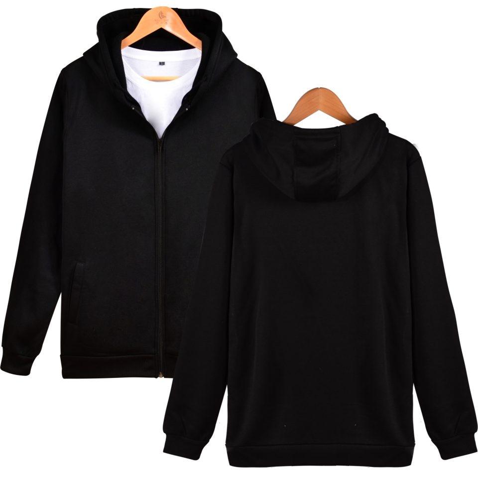 Новые модные 2D толстовки на молнии для заказов клиентов