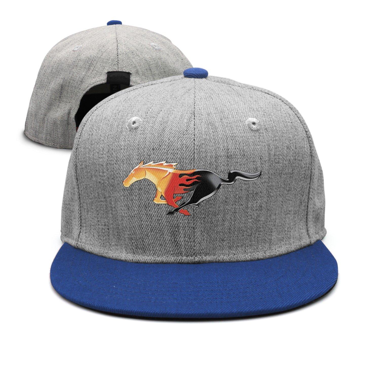 SJSNBZ Flaming Pony impresión Unisex adultos hombres sombreros de ala plana