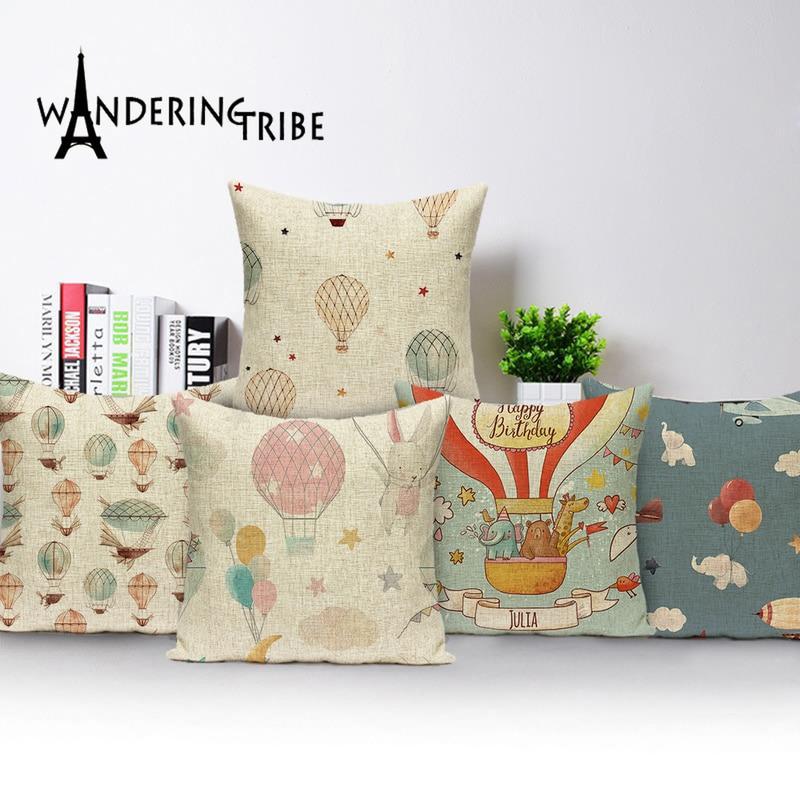 Fundas de cojín de oso de dibujos animados, decoración nórdica adorable, funda de almohada, cojines para niños, almohadas de casa, fundas personalizadas Kissen