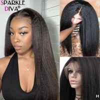 yaki pre plucked peruvian kinky straight lace front human hair wigs 13x4 lace frontal wigs 28 inches remy hair wigs 180 density