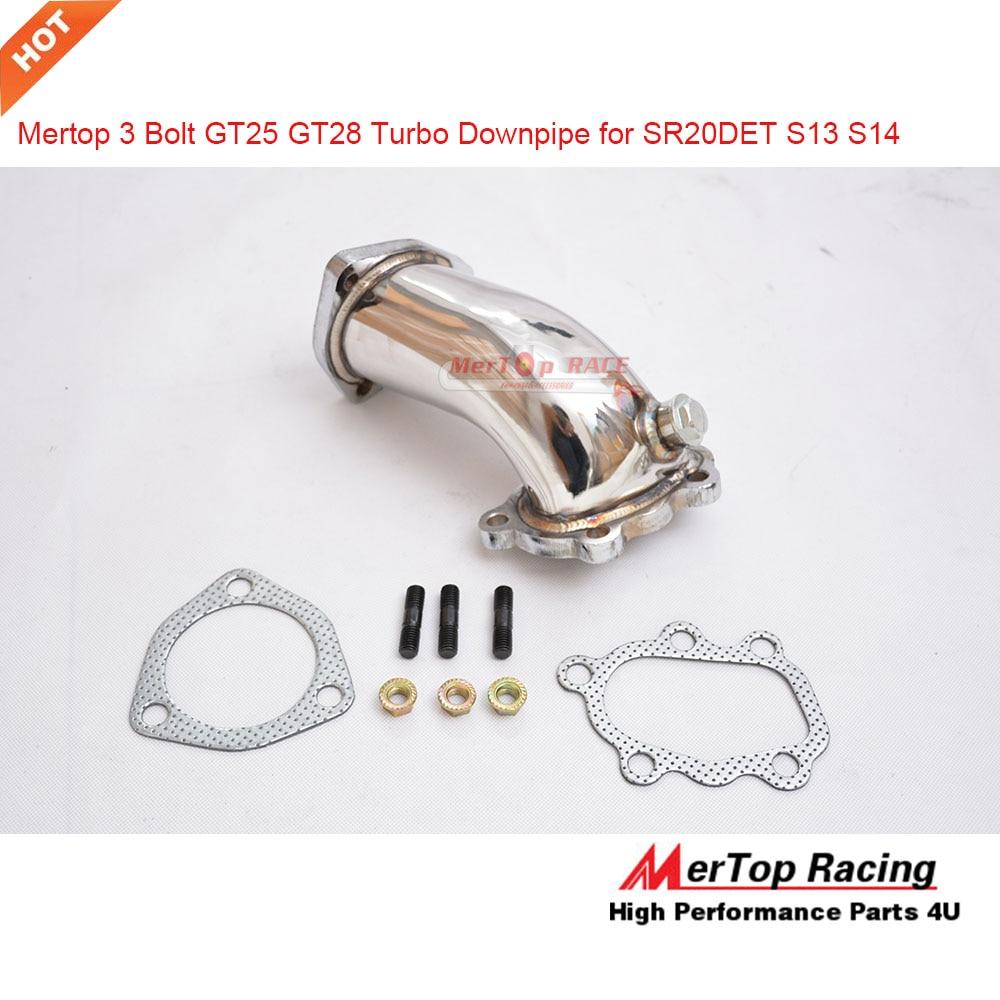 MerTop 3 Parafuso Em Aço Inox 304 GT25 3 GT28 Turbo Downpipe SR20DET SR20 S13 S14