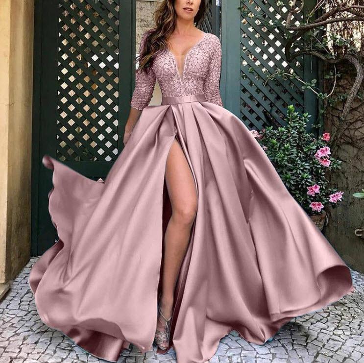 платье noisy may 27006197 женское цвет мультиколор mandarin red полоски р р 44 s Элегантное женское вечернее платье, потрясающее длинное платье, шикарная одежда для вечерние, модное женское официальное платье большого р...
