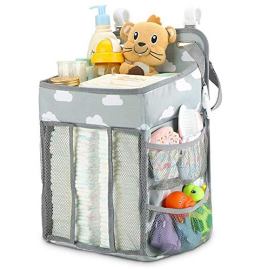 Baby Diapers Caddy For Mommy and Baby Bed Organizer Hanging Bags For Newborn Crib Diapers Storage Bag Baby Care Organizer Cradle