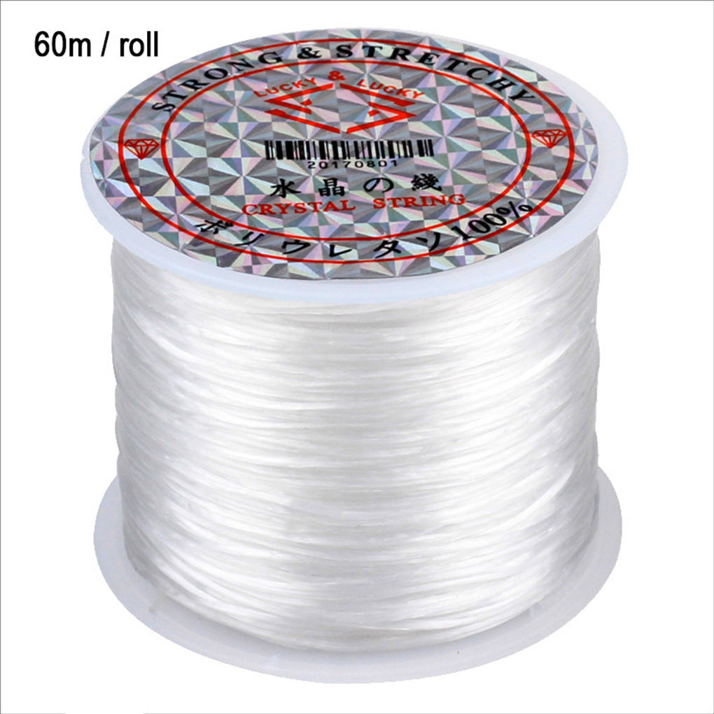 1Roll Transparent Elastic Crystal Line Beading Cord String 60M Wire Thread For Jewelry Making DIY Necklace Bracelet Accessories