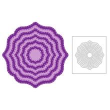 2020 nouvelle superposition nidification bord fil à coudre arrière-plan couches métal matrices de découpe pour Scrapbooking carte de voeux fabrication de papier