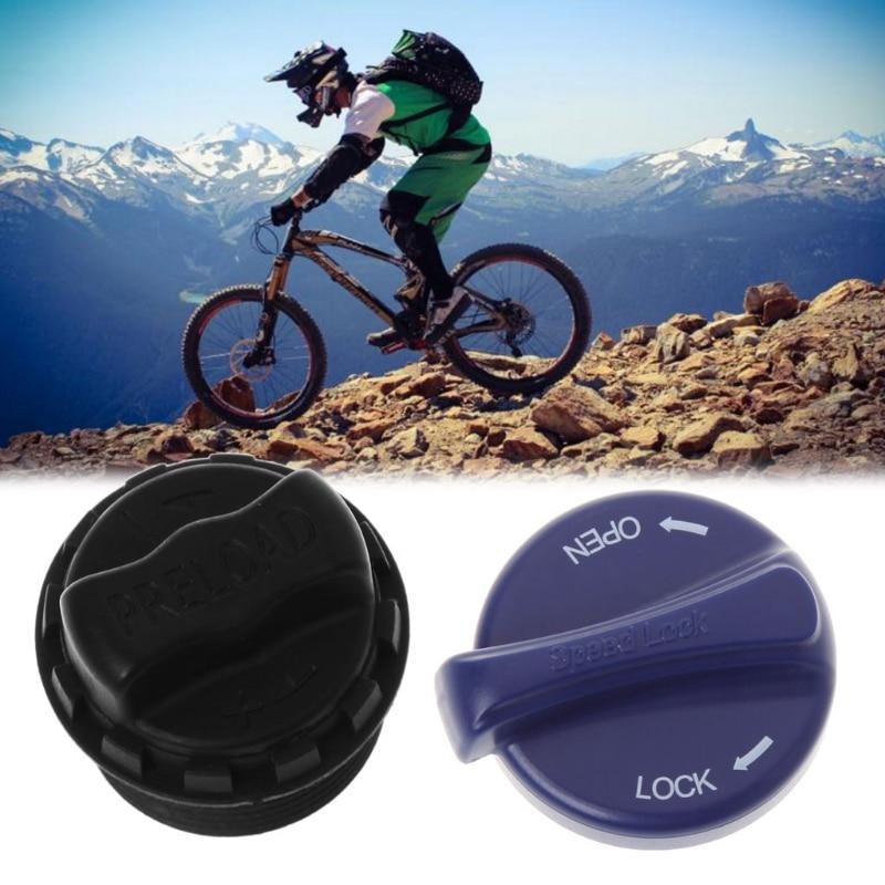 Bicicleta horquilla delantera tapa perilla precarga ajustable MTB bicicleta ciclismo partes Taburetes